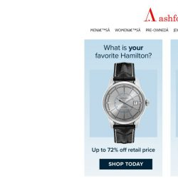 [Ashford] Mix and Mingle: Cartier, Rado, Hamilton and More...
