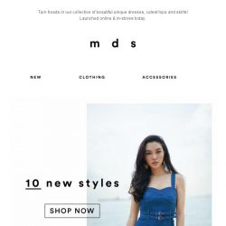 [MDS] Your wardrobe upgrade covered | NEW Online & In-Stores