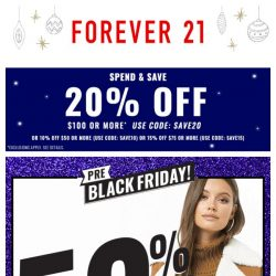 [FOREVER 21] Black Friday on a Tuesday? Yes Please 🙋