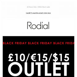 [RODIAL] Black Friday Begins With £10 Outlet 🔥