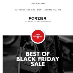 [Forzieri] Now or Never Black Friday: 5 Designers you cannot miss