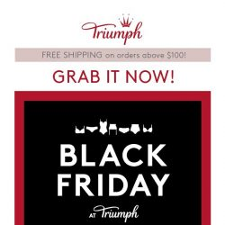 [Triumph]  Black Friday Sale Up to 70% Off!