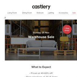 [Castlery] 🚨Everything Must Go This Sunday! 📦