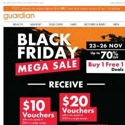 [Guardian] ⚡ Act FAST for our BLACK FRIDAY MEGA SALE! While stocks last!
