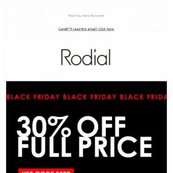[RODIAL] Black Friday: 30% Off Now Live 💋