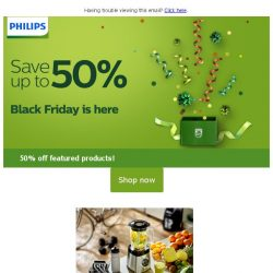 [PHILIPS] Black Friday Sale - 50% off featured products!
