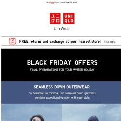 [UNIQLO Singapore] Black Friday offers on travel essentials from $19.90