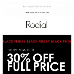 [RODIAL] Have You Shopped Our 30% Off Yet?