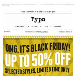 [typo] Black Friday Final Hours!