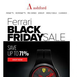 [Ashford] Black Friday Favorites—Spotlight on Ferrari Exceptional Watches