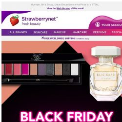 [StrawberryNet] 💋💕 Further Discounts on Black Friday! Beauty Up to 70% Off!
