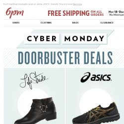 [6pm] Cyber Monday Doorbusters are here! YAY!