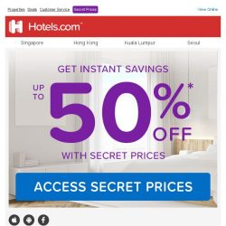 [Hotels.com] You qualify for up to 50% off