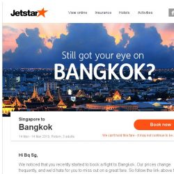 [Jetstar] Still want to go to Bangkok?
