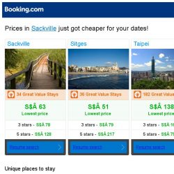 [Booking.com] Prices in Sackville are dropping for your dates!