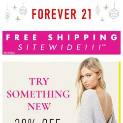 [FOREVER 21] The Cyber Sale Continues: Take 30% Off NEW!