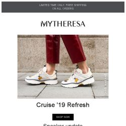 [mytheresa] Cruise '19 shoes have landed + limited time free shipping