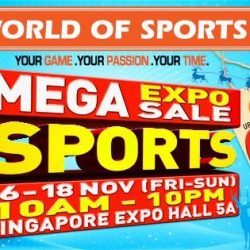 World of Sports: Mega Sports Expo Sale with Offers on Footwear, Apparels, Equipment & Gear from Nike, Mizuno, Columbia, Spalding & More!
