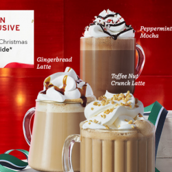 Starbucks: Peppermint Mocha, Gingerbread Latte & Toffee Nut Crunch Latte Available from 8 Nov + 15% OFF for Starbucks Gold & Green Members!