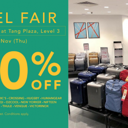 TANGS: Travel Fair with Up to 50% OFF Travel Essentials from American Tourister, Kamiliant, Pacsafe, Thule, Victorinox & More