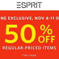 Esprit: 11.11 Online Exclusive Sale with 50% OFF Regular-Priced Items!