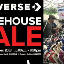 Converse: Year-End Warehouse Sale 2018 with Mega Discounts on Apparel, Footwear & Accessories!