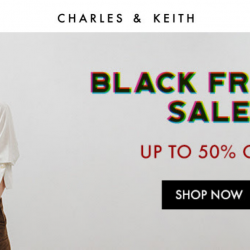 Charles & Keith: Black Friday Sale with Up to 50% OFF Sale Items