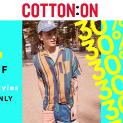 Cotton On: 1-Day Only Online Exclusive Sale with 30% OFF 100's of Styles