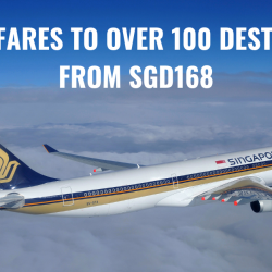Singapore Airlines: Special Fares to Over 100 Destinations from SGD168!