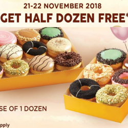 J.CO Donuts & Coffee: Get Half Dozen Donuts FREE with Purchase of 1 Dozen!