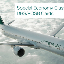 Cathay Pacific: Special Economy Class Fares from SGD228 All-in with DBS/POSB Cards