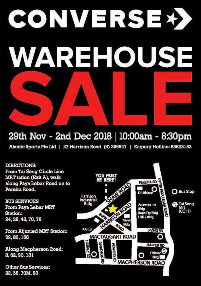 Converse  Year-End Warehouse Sale 2018 with Mega Discounts on ... 2477cf95e