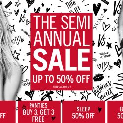 Victoria Secret: Semi-Annual Sale with Up to 50% OFF Bras, Sleep, Sport, Beauty & Accessories