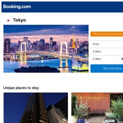 [Booking.com] Deals in Tokyo from S$ 48