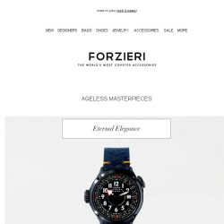 [Forzieri] Ageless Masterpieces for Men