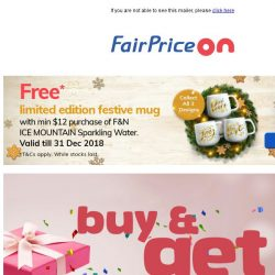 [Fairprice] Gifts Galore! 🎁