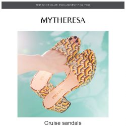 [mytheresa] 👠Shoe Club exclusive: Resort sandals