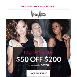 [Neiman Marcus] $50 off $200 + Triple Points: Our treats to you!