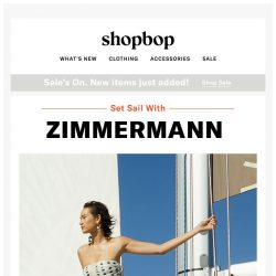 [Shopbop] Vacation outfits, here we come (new from Zimmermann)