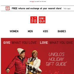 [UNIQLO Singapore] Specially curated guides for this gifting season