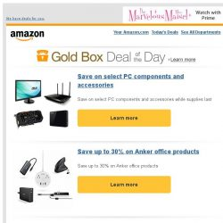 [Amazon] Save on select PC components and accessories