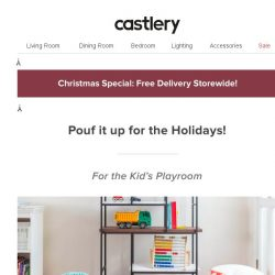 [Castlery] 🔴Pouf it up for the Holidays! 🔵