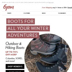 [6pm] Up to 70% off Boots! Yes!