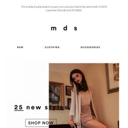 [MDS] THE HOLIDAY COLLECTION #1 | LAUNCHED ONLINE & IN-STORES
