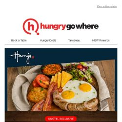 [HungryGoWhere] 50% Off Mains + Free Beverage, Singtel exclusive dining treats by Harry's, available at 18 outlets islandwide
