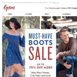 [6pm] The Boots Sale is here!