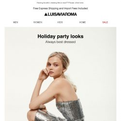 [LUISAVIAROMA] Holiday party outfits for every style