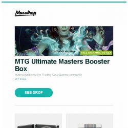 [Massdrop] MTG Ultimate Masters Booster Box, Juvo Luxury A-Series Watch Winders, Bronte by Moon Merino Lambswool Throws and more...
