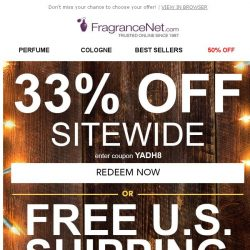 [FragranceNet] 33% off + Free Shipping - Your sale, your choice