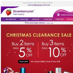 [StrawberryNet] , Last Chance to Save MORE on Christmas Clearance!